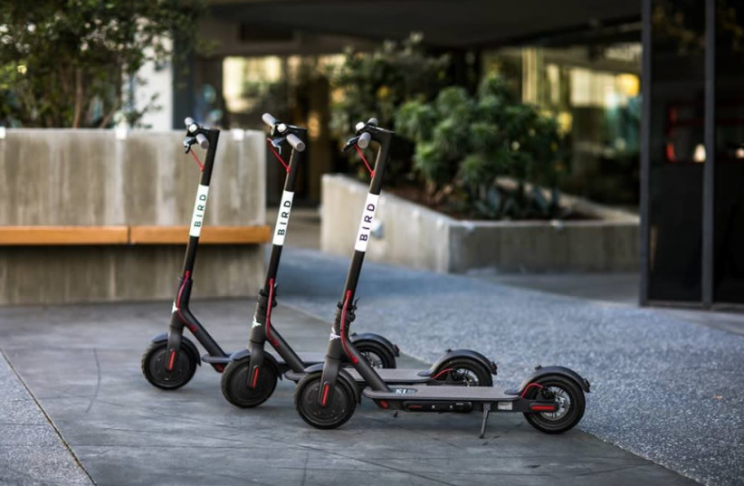 California-headquartered Bird's shared electric scooters  (photo credit: BIRD)