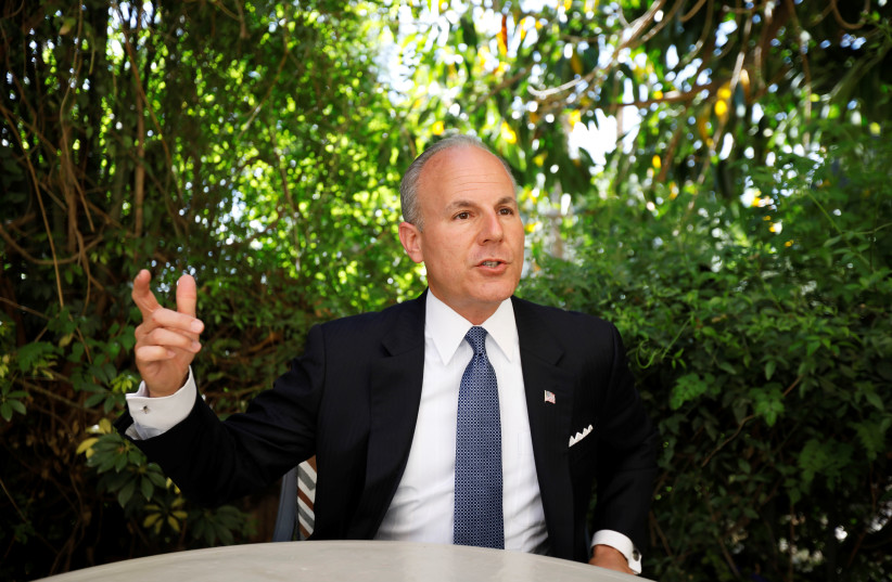 U.S. Special Envoy for Monitoring and Combating Anti-Semitism, Elan Carr (photo credit: REUTERS/Ronen Zvulun)