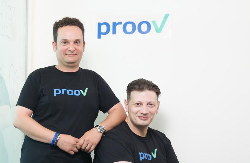 prooV co-founders Toby Olshanetsky (L) and Alexey Sapozhnikov  (photo credit: PROOV)