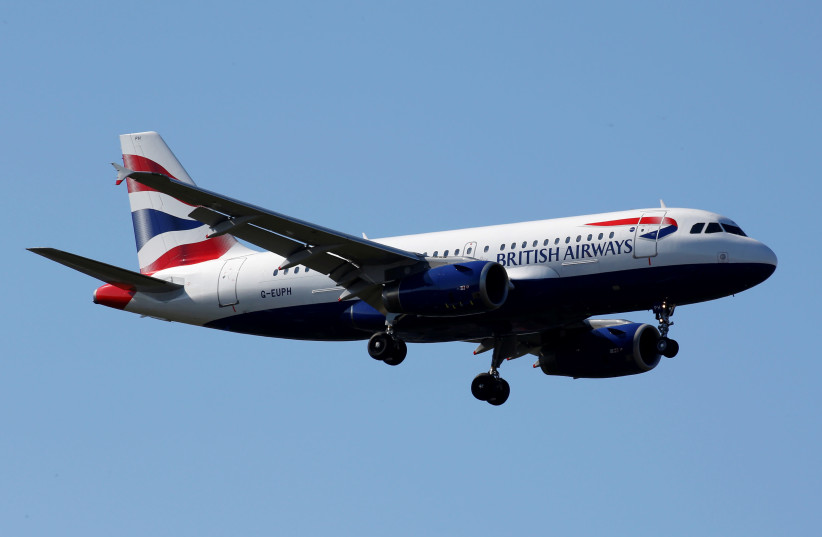 The G-EUPH British Airways Airbus A319-131 makes its final approach for landing at Toulouse-Blagnac airport, France (photo credit: REUTERS)