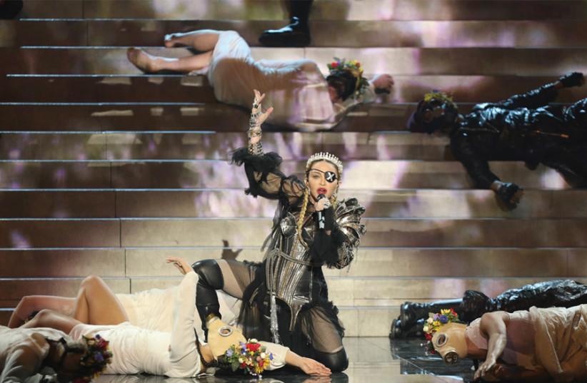 Madonna performs at the Tel Aviv Eurovision 2019 (photo credit: ORIT PNINI)
