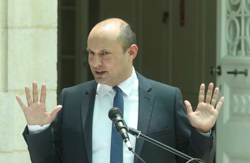 Naftali Bennett at a ceremony at the education ministry (photo credit: MARC ISRAEL SELLEM)