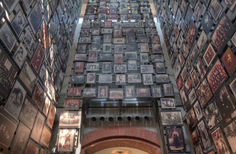 Tower of Faces at the United States Holocaust Memorial Museum (photo credit: WIKIMEDIA)