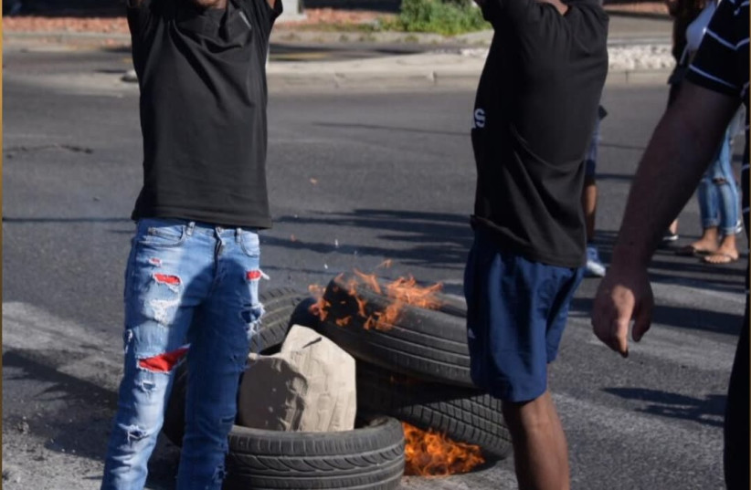 Ethiopian-Israelis protest throughout the country (photo credit: POLICE SPOKESPERSON'S UNIT)