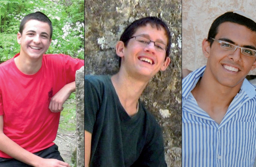 Gilad Shaer, Naftali Fraenkel and Eyal Yifrah (photo credit: Courtesy)