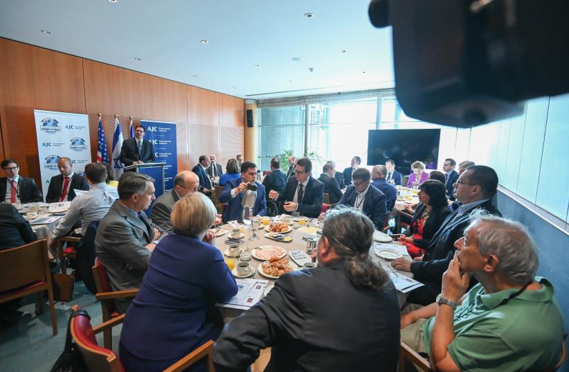 AJC launches Transatlantic Friends of Israel  group in EU Parliament. (photo credit: AJC TRANSATLANTIC INSITUTE)