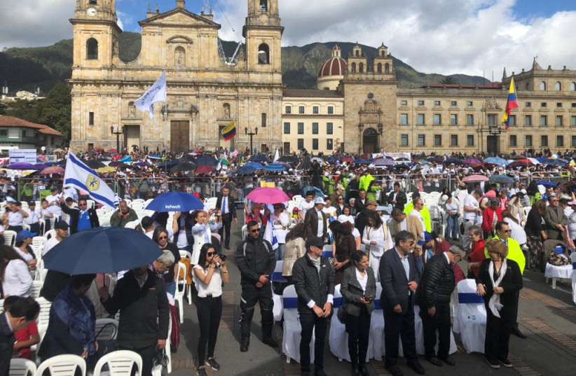 Thousands participated in a pro-Israel event in June in Bogota, Colombia. (photo credit: Courtesy)