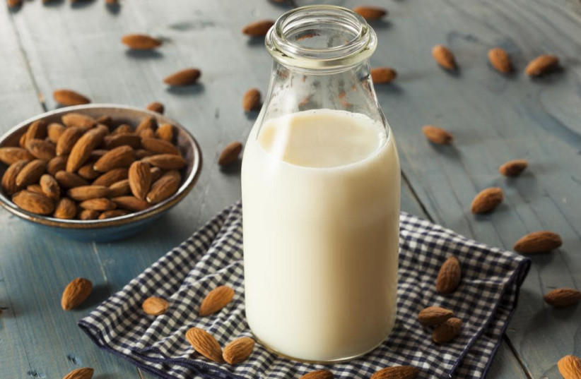 COW'S MILK can be replaced with almond or coconut milk (photo credit: WIKIPEDIA)