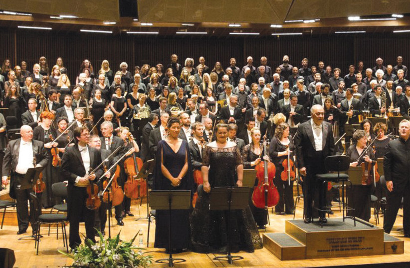 Zubin Mehta and the IPO performing Verdi's Requiem (photo credit: ODED ANTMAN)