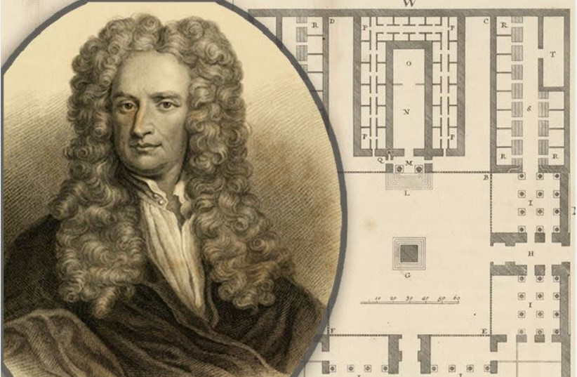 Physicist Isaac Newton (photo credit: SHARON COHEN / NATIONAL LIBRARY OF ISRAEL)