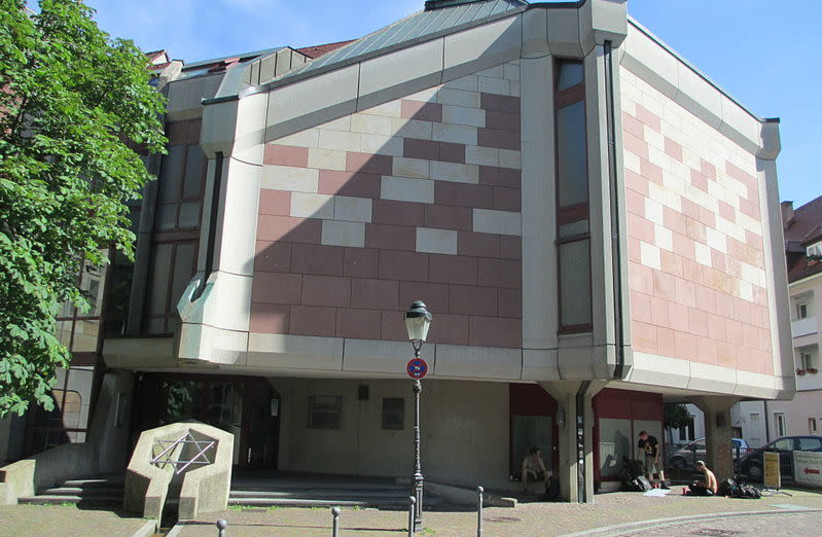 The synagogue where the attack took place in Freiburg, Germany (photo credit: WIKIPEDIA)