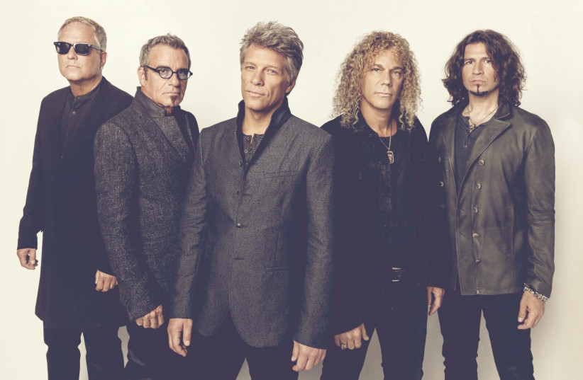 Bon Jovi and David Bryan (Second from the right).   (photo credit: LIVENATION)