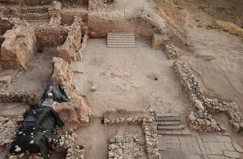 The archeological site at Tel Hazor (photo credit: THE KEREN ZELTS EXCAVATIONS AT HAZOR IN MEMORY OF YIGAEL YADIN)
