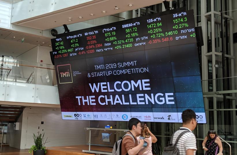 The TMTI Summit at the Tel Aviv Stock Exchange (photo credit: DAVID DIMOLFETTA)