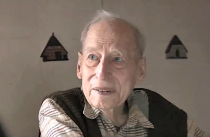Former Nazi SS war criminal Karl Munter interviewed on German TV.  (photo credit: screenshot)