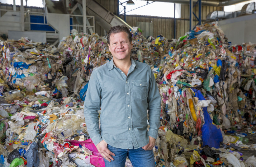 UBQ CEO & co-founder UBQ co-founder and chief executive Jack (Tato) Bigio at the company's recycling facility (photo credit: PR)