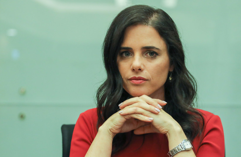 United Right leader Ayelet Shaked (photo credit: MARC ISRAEL SELLEM/THE JERUSALEM POST)