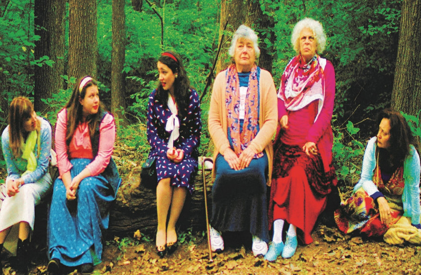 MAYA BATASH (far left) portrays a woman who joins a women's trip to Uman, Ukraine, to seek spirituality in the new film 'Talking to God.' (photo credit: MAYA BATASH)