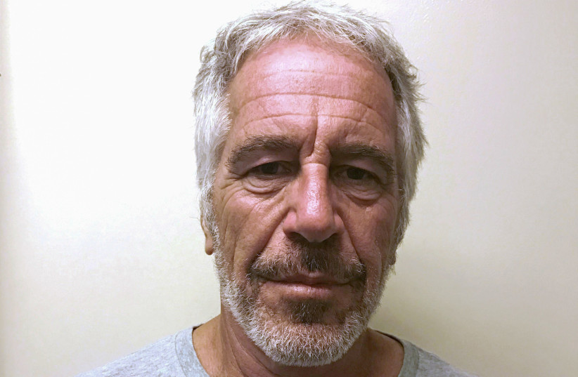 Jeffrey Epstein appears in a photo taken for the NY Division of Criminal Justice Services' sex offender registry (photo credit: REUTERS)