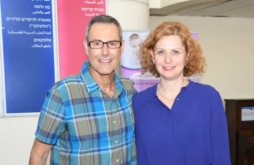 ANAT ENGEL and Uri Geller (photo credit: NAOR BEN SALMON)