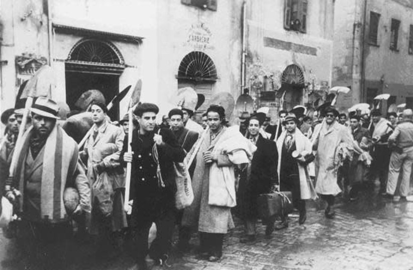 Tunisian Jews were enlisted into forced labor by the Nazis during their six-month occupation from November 1942 (photo credit: YAD VASHEM)