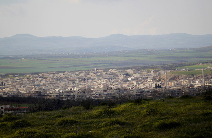 A general view shows Khan Sheikhoun in the southern countryside of Idlib March 16, 2015 (photo credit: KHALIL ASHAWI / REUTERS)