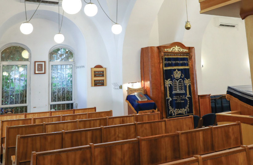 INTERIOR OF the Yael shul today. (photo credit: MARC ISRAEL SELLEM)