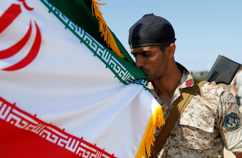 A marine from Iran takes part in the International Army Games 2019 in Kaliningrad Region (photo credit: VITALY NEVAR/REUTERS)