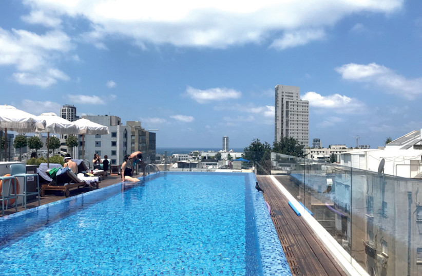 A view of the swimming pool at The Norman (credit: EMMA MCAVOY)