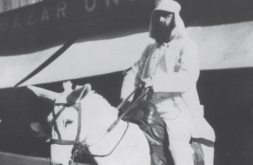 ON THE first days of the journey to visit Palestine, Herzl – atop a donkey – and his party pass through Port Said, Egypt, 1898. (photo credit: Wikimedia Commons)