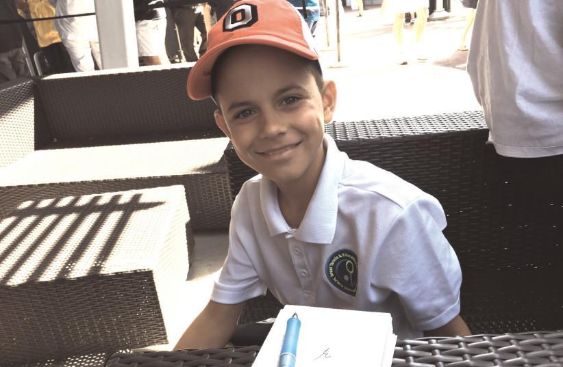 Ariel Kolandarov – from Tel Aviv – dreams of becoming the next Novak Djokovic (photo credit: HOWARD BLAS)