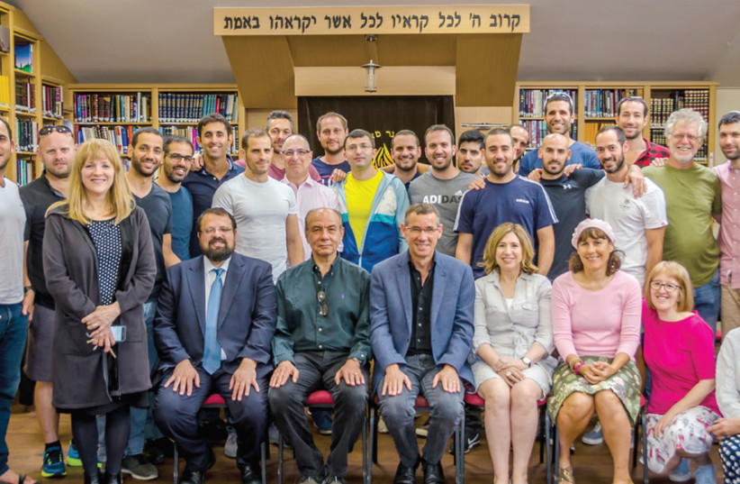 THE GROUP that paid a recent visit to London. Center front row is Mark Regev, Israel's Ambassador to the Court of St. James (UK). (photo credit: COURTESY NER YISRAEL)