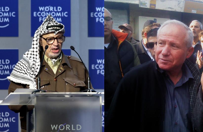 Palestinian President Yasser Arafat and former Shin Bet head MK Avi Dichter (Likud) (photo credit: Wikimedia Commons)