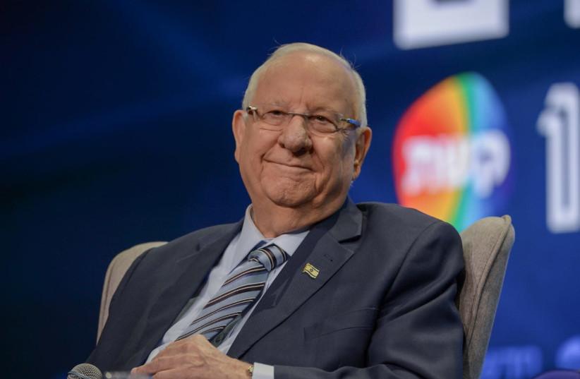 President Rivlin talks at influencer conference in Tel Aviv (photo credit: KOBI RICHTER/TPS)