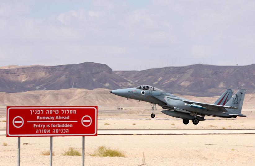 Israel Air Force F15 (photo credit: ANNA AHRONHEIM)