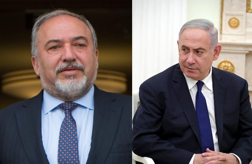 Yisrael Beytenu leader MK Avigdor Liberman and Prime Minister Benjamin Netanyahu (photo credit: Wikimedia Commons)