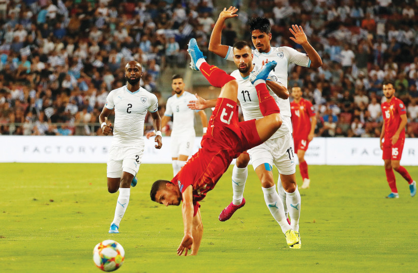 ISRAEL WAS held to a 1-1 draw at home on Friday night against North Macedonia and faces a tricky road Euro 2020 Group G qualifier tonight in Slovenia (photo credit: REUTERS)