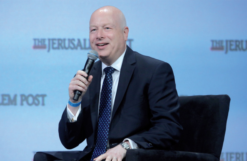 US special envoy to the Middle East Jason Greenblatt (pictured here at The Jerusalem Post Annual Conference in New York in April) is to step down in the next few weeks (photo credit: MARC ISRAEL SELLEM)