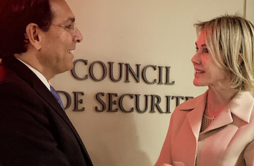 UN Ambassador Danny Danon and UN Ambassador Kelly Craft (photo credit: ISRAEL MISSION TO THE UN)