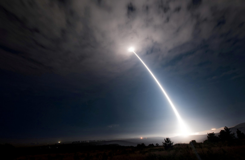 An unarmed Minuteman III intercontinental ballistic missile launches from Vandenberg Air Force Base (photo credit: REUTERS)
