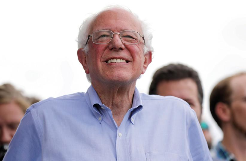 Bernie Sanders (photo credit: REUTERS/SCOTT MORGAN)