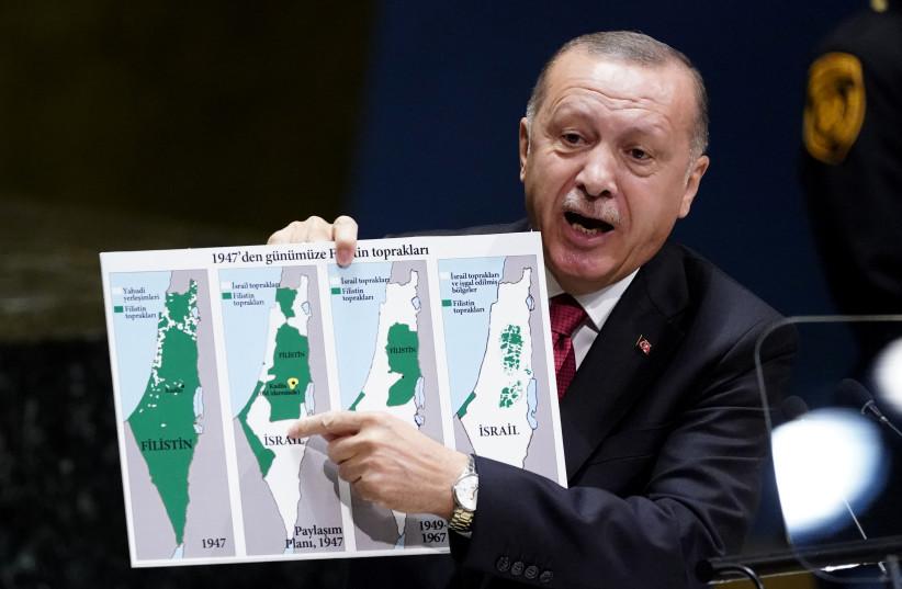 Turkey's Erdogan: Israel was originally mostly Palestinian - The Jerusalem  Post