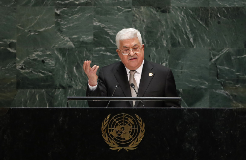 Palestinian President Mahmoud Abbas addresses the 74th session of the United Nations General Assembly at U.N. headquarters in New York City, New York, U.S. (photo credit: REUTERS)