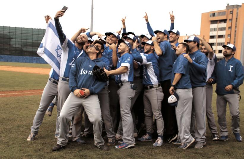 Israel's national baseball team (photo credit: MARGO SUGARMAN)