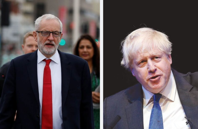 Second day of the Labour party annual conference in Brighton. (Left); BORIS JOHNSON, one of many contenders for the Conservative leadership. (Right) (photo credit: REUTERS)