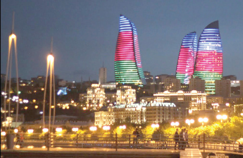 THE FLAME Towers in Baku are a symbol of the new and independent Azerbaijan. (photo credit: AZERTAC)