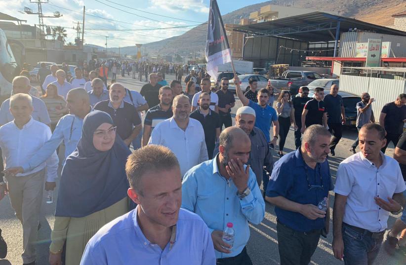Protests in Majd al-Krum (photo credit: JOINT ARAB LIST)