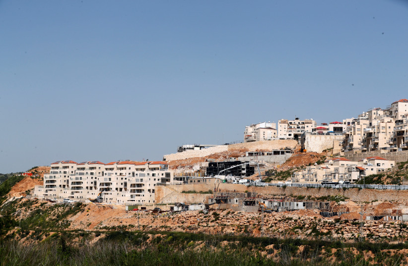 A general view shows the Israeli settlement of Beitar Illit in the West Bank April 7, 2019 (photo credit: RONEN ZVULUN / REUTERS)