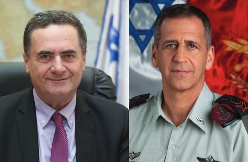 Foreign Minister Israel Katz and IDF Chief of Staff Aviv Kochavi (photo credit: MARC ISRAEL SELLEM/IDF SPOKESPERSON'S UNIT)