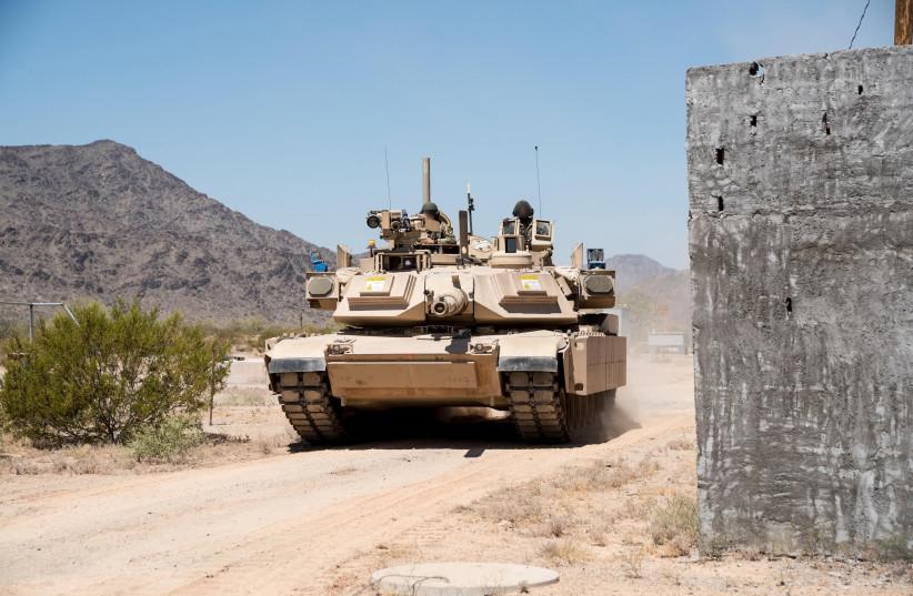 TROPHY APS on US army Abrahms tank (photo credit: RAFAEL ADVANCED DEFENSE SYSTEMS)